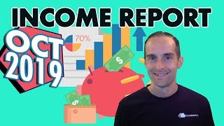 Income Report for My Online Business October 2019 — Live Q & A