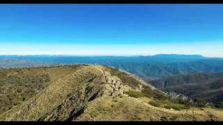Hiking The Razorback Trail, Mt Hotham Alpine Resort drone video 4K