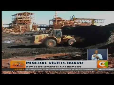 Gov't inaugurates Mineral Rights Board