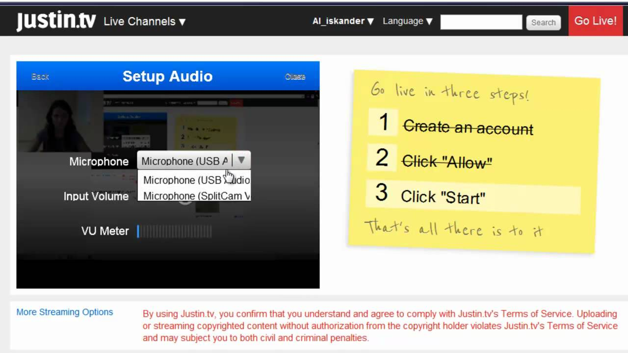 Justin tv game streaming with SplitCam – Video Guide