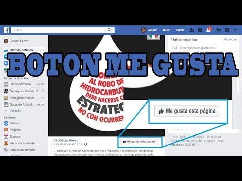 """Como Añadir : El Botón """"Me Gusta Esta Pagina"""" En Las Publicaciones De Tu (FanPage)"""