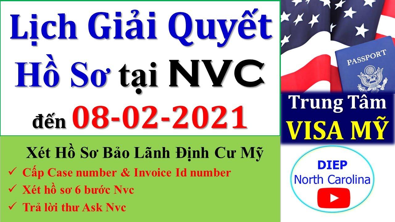 Lịch Giải Quyết Hồ Sơ Định Cư MỸ tại T.Tâm Visa đến ngày 08-02-2021[NVCTimeframes FEB 08]