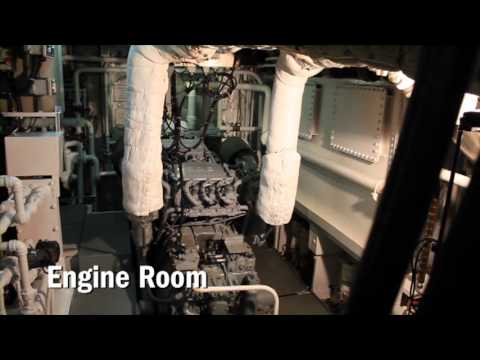 The engine room Onboard LEX & Nat Geo Islander.
