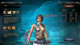Martial Empire Online character creation