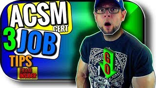 ACSM Certified Personal Trainer Jobs | 3 Tips and Skills You NEED Post Exam