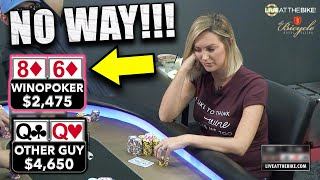 She BRICKED OUT but then THIS Happened ♠ Live at the Bike!