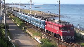 津軽線を走る14系リバイバル快速海峡号 2015年7月4日