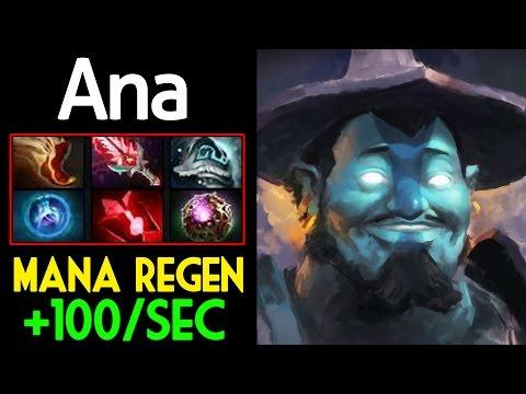 Ana [Storm Spirit] WTF Mana Regen +100mana/sec Dota 2 7.05