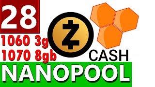 Майнинг Zcash ( ZEC ) на пуле Nanopool на видеокартах Nvidia ТЕСТ и НАСТРОЙКА