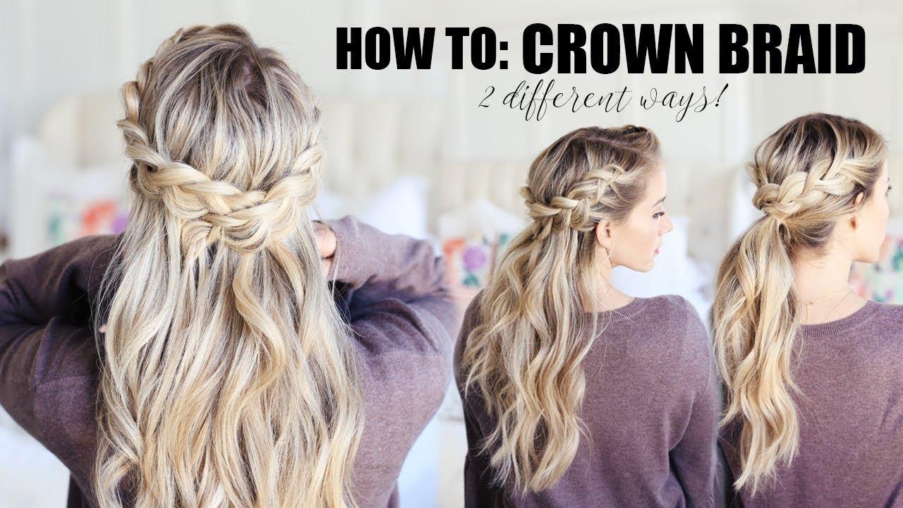 How to do a Crown Braid!!! 2 EASY WAYS   Twist Me Pretty - YouTube