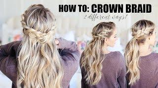 how to do a crown braid 2 easy ways twist me pretty
