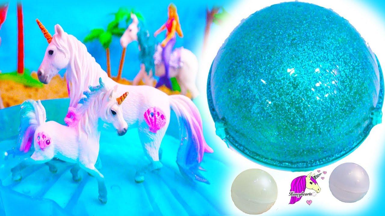 Sea Unicorn Family ! Schleich Horse Pearl Surprise Horse Set