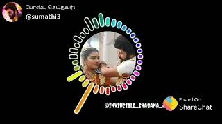 Sembaruthi serial Aadhi Paarvathi marriage song semmmma love heart touch feel