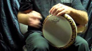 "The Golden Star Gawharet El Fan Darbuka with The New Remo Head 8.75"" Diplomat RENAISSANCE"