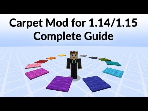 Carpet Mod for Minecraft 1.14/1.15 - Complete Guide