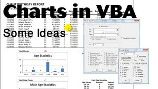 Excel VBA Tips n Tricks #21a Things you can do with Charting in reports  ideas