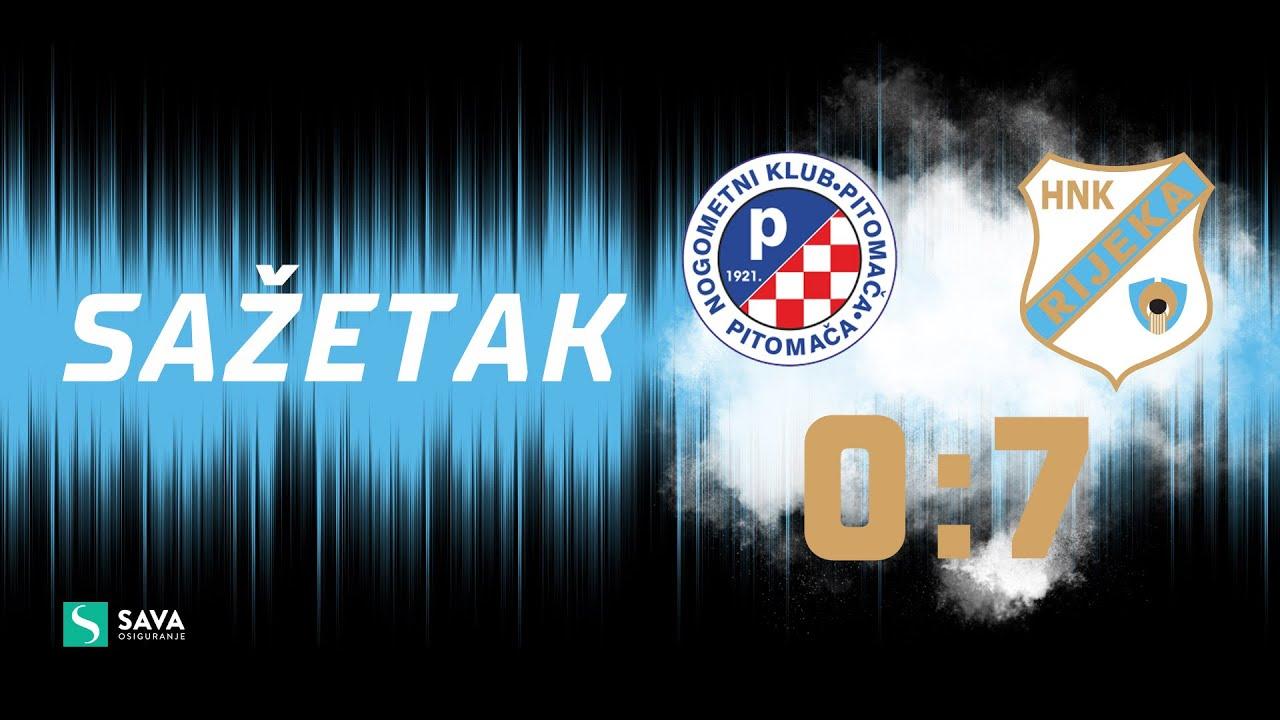 Pitomača - Rijeka 0:7 - sažetak 1/16 finala Kupa Hrvatske (2021./2022.)