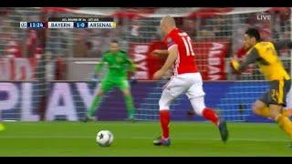 Arjen Robben Goal vs Arsenal 1-0   15-02-17