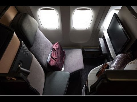 First Qatar Airways Airbus A350-1000 Business Class - Economy Class
