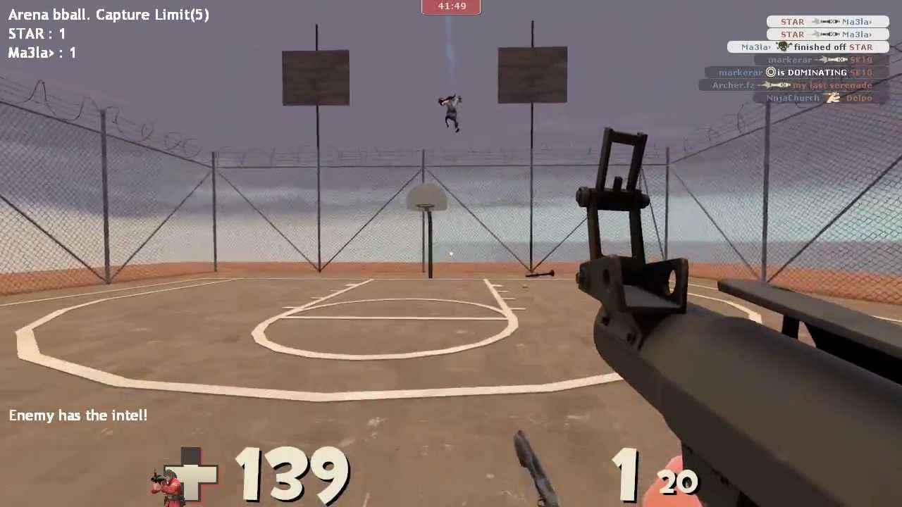 Team Fortress BBall - Myself vs. Ma3latf in two matches of the bballs.  Explanations to whats going on as well!