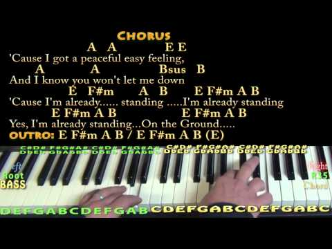 Peaceful Easy Feeling (Eagles) Piano Cover Lesson with Chords/Lyrics