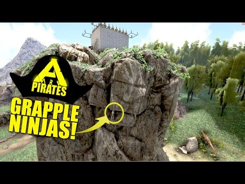 GRAPPLE NINJAS! (Ark Pirates Official Pvp) - Ark:Survival Evolved - Ep.22