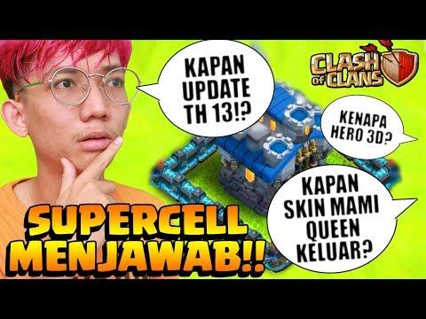 Kapan UPDATE TH 13? KENAPA HERO 3D? SUPERCELL Menjawab! - CoC Indo
