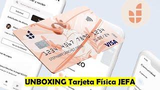 #Unboxing #Tarjeta De #Débito Física #JEFA | Al Fin Llegó | Ya Disponible Para Pedirla Desde La APP