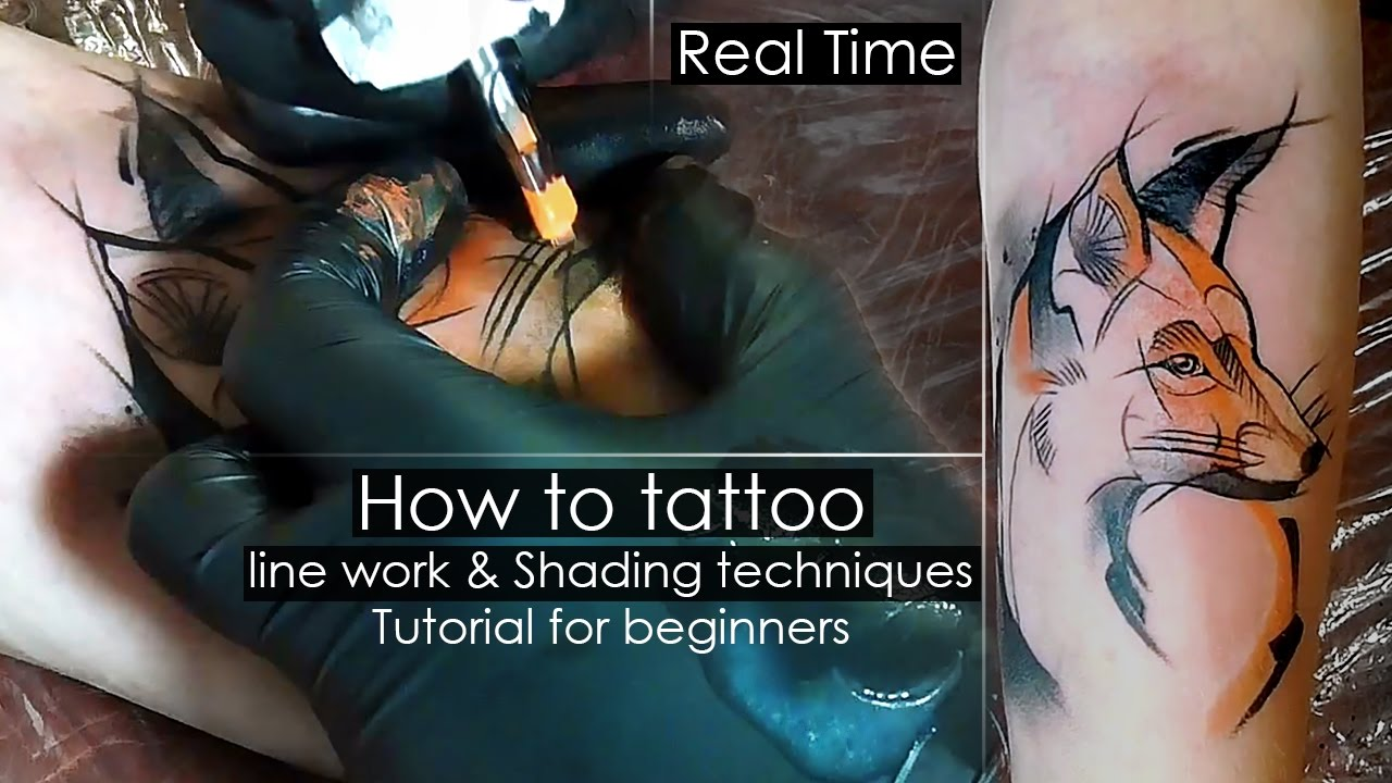 How To Tattoo Line Work Amp Shading Techniques Tutorial For Beginners Real Time Solor Fill In Yo Shading Techniques Tattoo Artist Tips Tattoo Shading