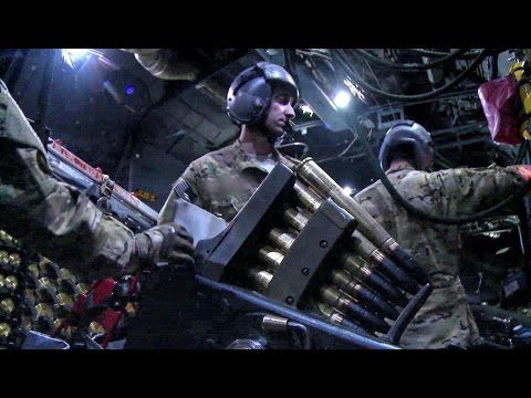 Intense Action Inside The AC-130 Gunship