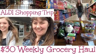 $30 Weekly Grocery Haul and Aldi Shopping Trip