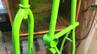Powder Coating Bicycle Frames