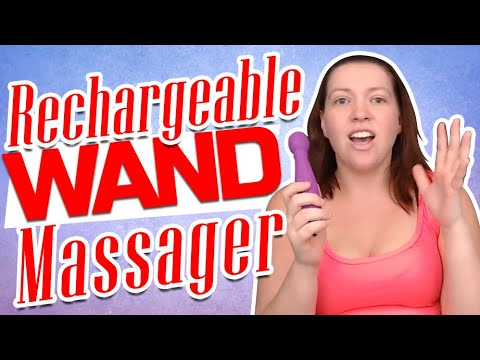 Rechargeable Wand Massager with Attachment | Vibrator Review | Hand Held Massage Kit