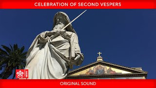 25 January 2021 Celebration of Second Vespers
