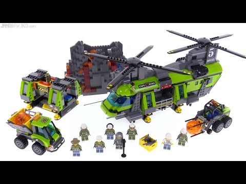 LEGO City Volcano Heavy-Lift Helicopter review! 60125