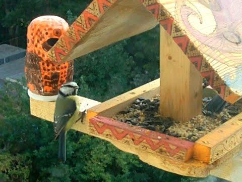 Кормушки для птиц Идеи от простого к сложному