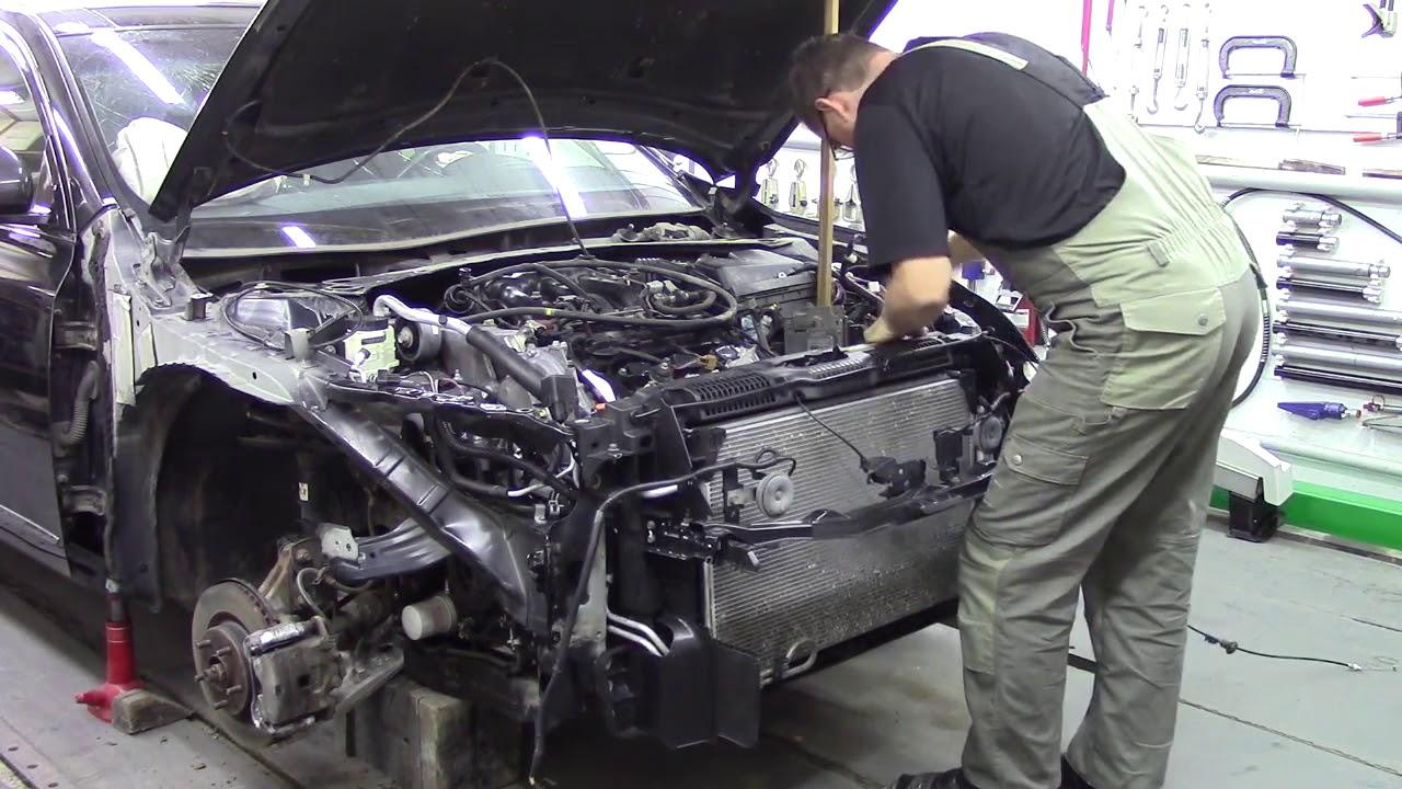 Ниссант Теана, ремонт передней части 2. Body repair after an accident.