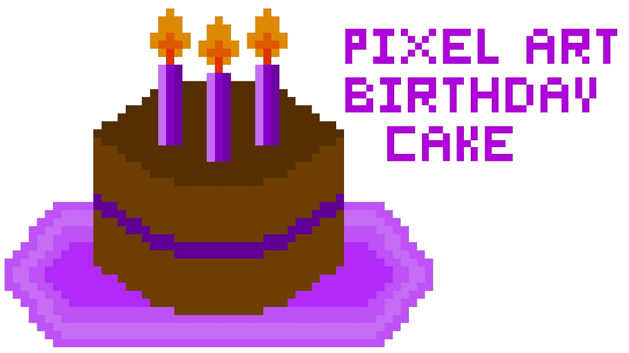 Pixel Art 1 A Birthday Cake Ft Photoshop By Arts From Life
