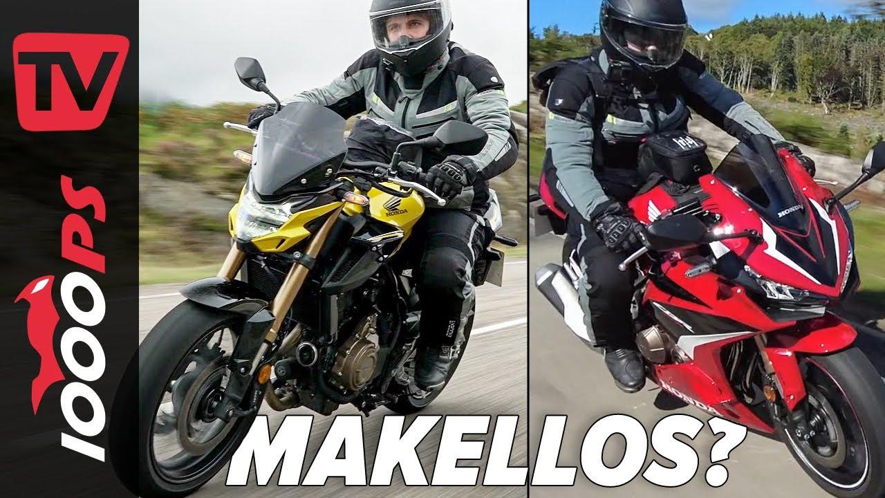 Die besten A2 Motorräder? Honda CB500F und CBR500R Test 2022