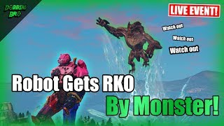 Robot Gets RKO By Monster in Fortnite