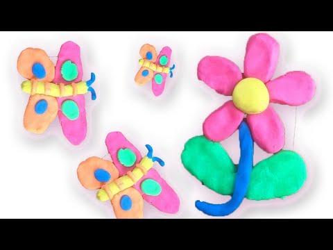 Cara Membuat Bunga Dan Kupu Kupu Dari Mainan Plastisin Lilin Malam Youtube