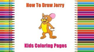 Jerry Mouse Drawing Easy | How to Draw Jerry Mouse | Children Coloring Pages | Learn Drawing Kids