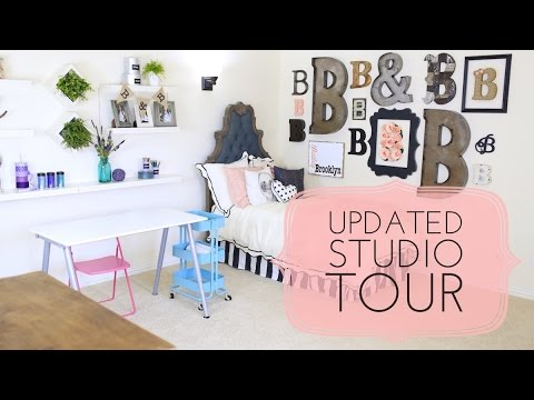Updated Studio Tour & Secret Room | Brooklyn & Bailey - YouTube
