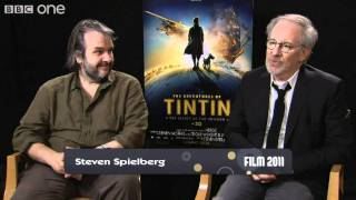 Spielberg and Jackson Discuss Film Presenters - Film 2011 With Claudia Winkleman - BBC One