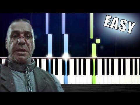 Rammstein - Deutschland - Outro (Sonne) - EASY Piano Tutorial by PlutaX