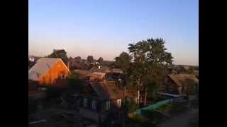 Вид сверху города Бирюсинска ул  Октябрьская