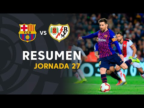 Resumen de FC Barcelona vs Rayo Vallecano (3-1)