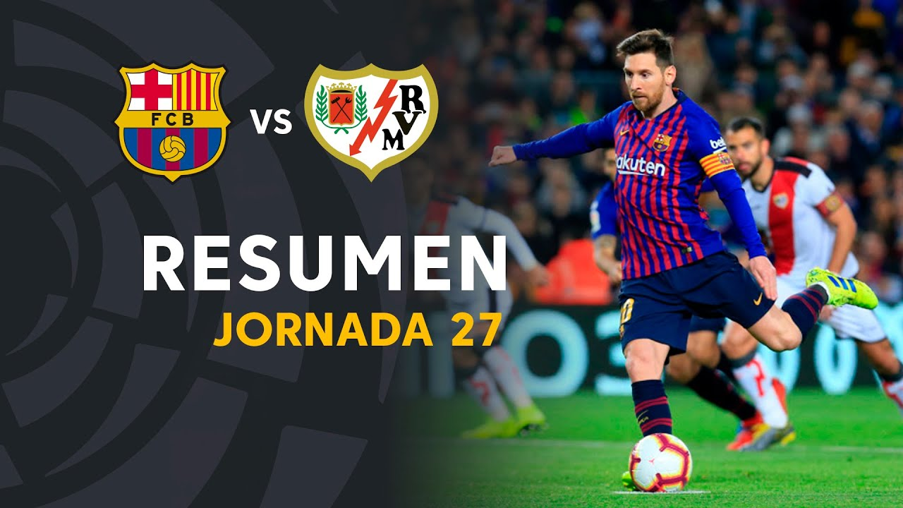 Download Resumen de FC Barcelona vs Rayo Vallecano (3-1)