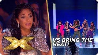 V5 bring the HEAT with this Billie Eilish & DJ Snake mash-up   Live Week 1   X Factor: Celebrity
