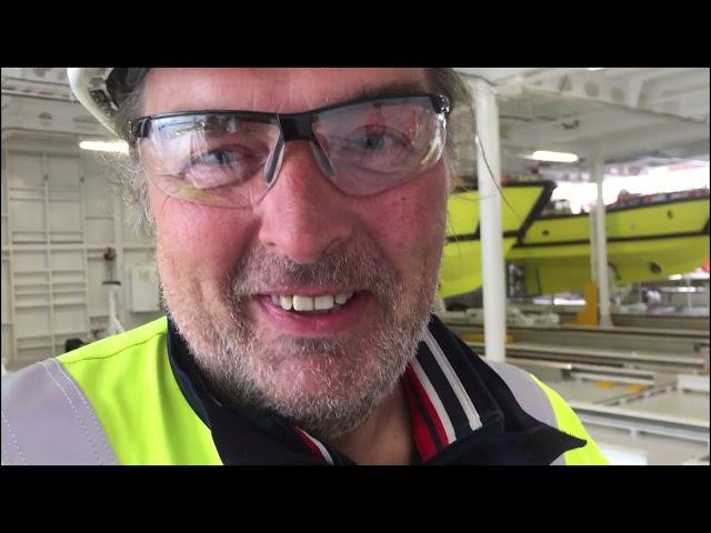 Inauguration du navire Aurora Nexans, Kjell Arne Bosun